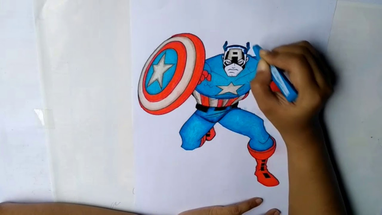 Mewarnai Captain America How To Color Captain America Coloring
