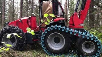 Real thinning harvester - New 6-wheel Nisula N5 + Nisula 500H harvester head