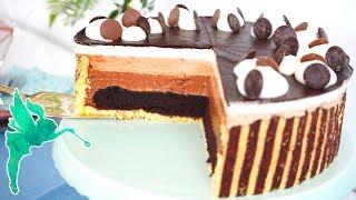 Mousse au chocolate Torte mit Brownieboden - Choco Mousse Torte mit Brownie - Kuchenfee