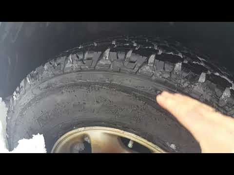 GoodYear Wrangler with Kevlar, tested in deep snow