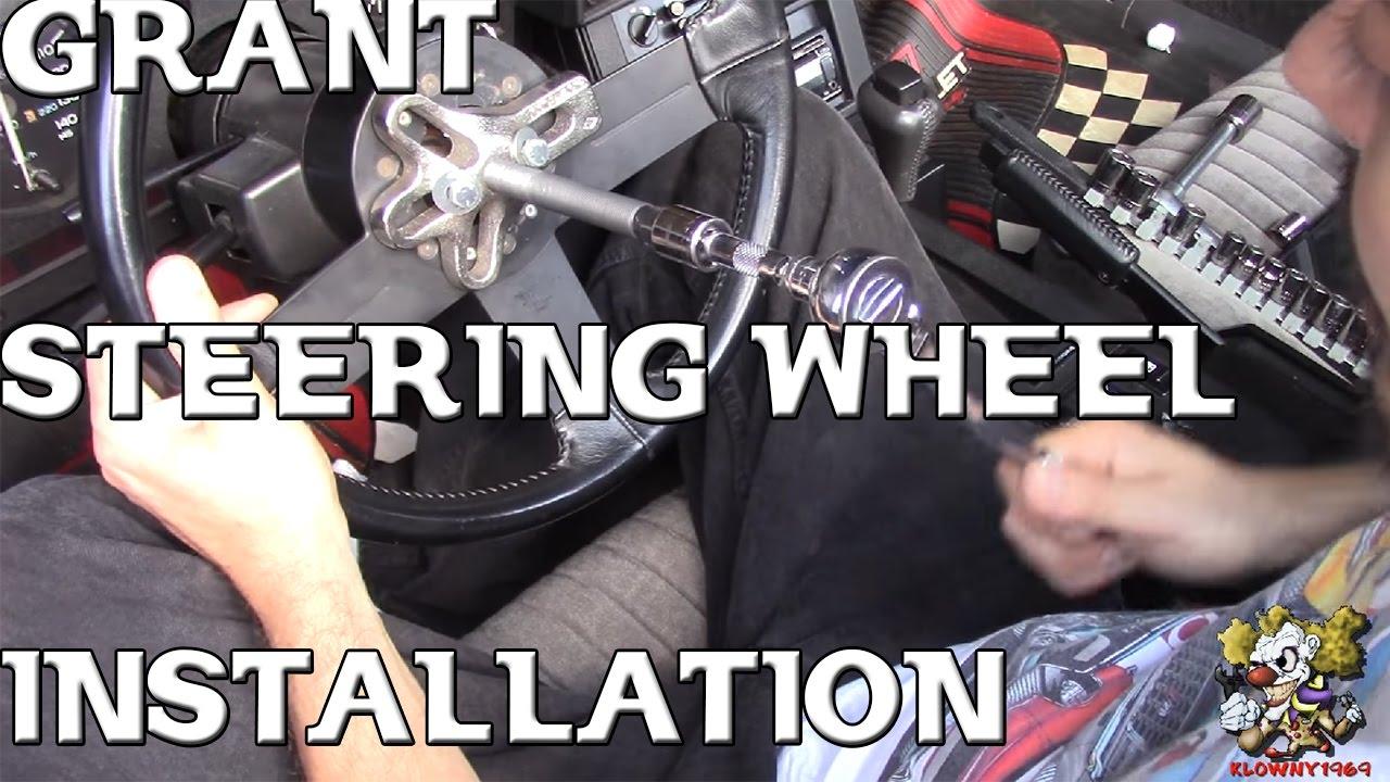 grant steering wheel install  [ 1280 x 720 Pixel ]