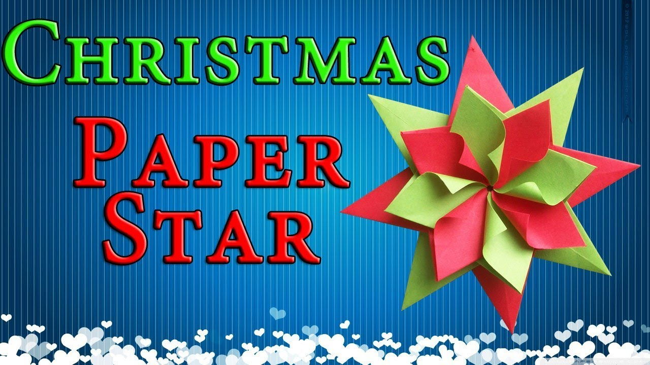 Easy paper christmas decorations origami star new year for Easy paper christmas decorations to make at home
