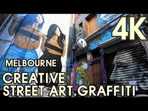 【4K UHD MELBOURNE AUSTRALIA】Melbourne's Creative Street Art, Graffiti of City Centre