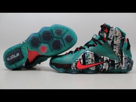 "quality design 01465 8d5a8 Nike LeBron 12 Christmas ""Akron Birch"" 707558-363 KixRx.com Emerald  Green Hyper Punch-Dark Emerald"