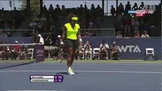 Serena Williams vs Coco Vandeweghe 2012 Stanford Finals Highlights