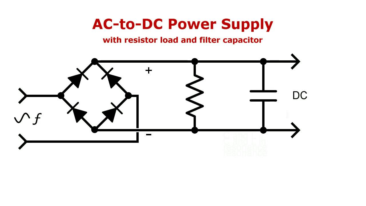 ac-to-dc power supply modified to resonant frequency doubler