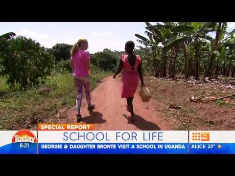 Georgie Gardner visits our Schools in Uganda