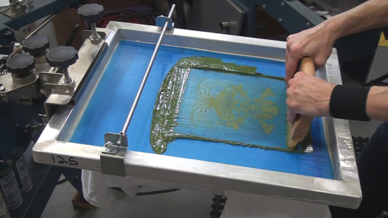 3. How To Screen Print Tee Shirts: Setting Up 2 Color Job On Press ...