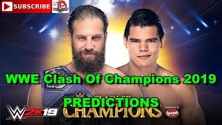 WWE Clash Of Champions 2019 Cruiserweight Championship Drew Gulak vs  Humberto Carrillo Predictions