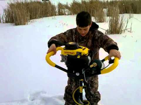 Noah Shows You How easy it is to Operate Jiffy Pro Propane Ice Auger