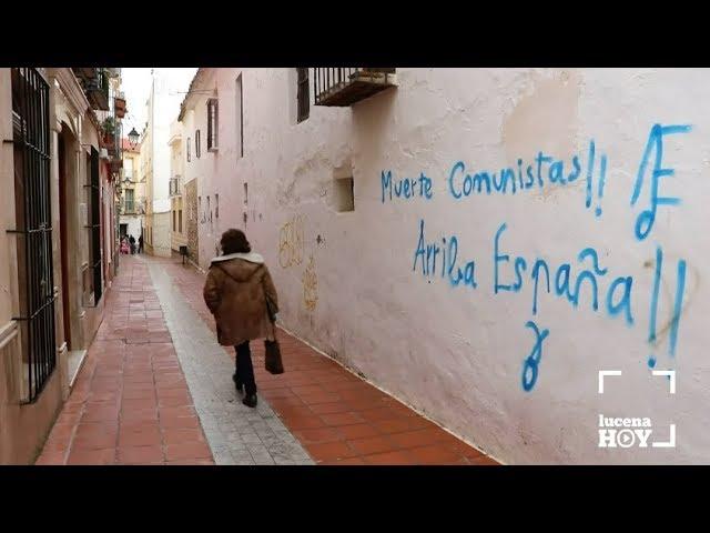 VÍDEO: Más pintadas fascistas y xenófobas en las calles de Lucena
