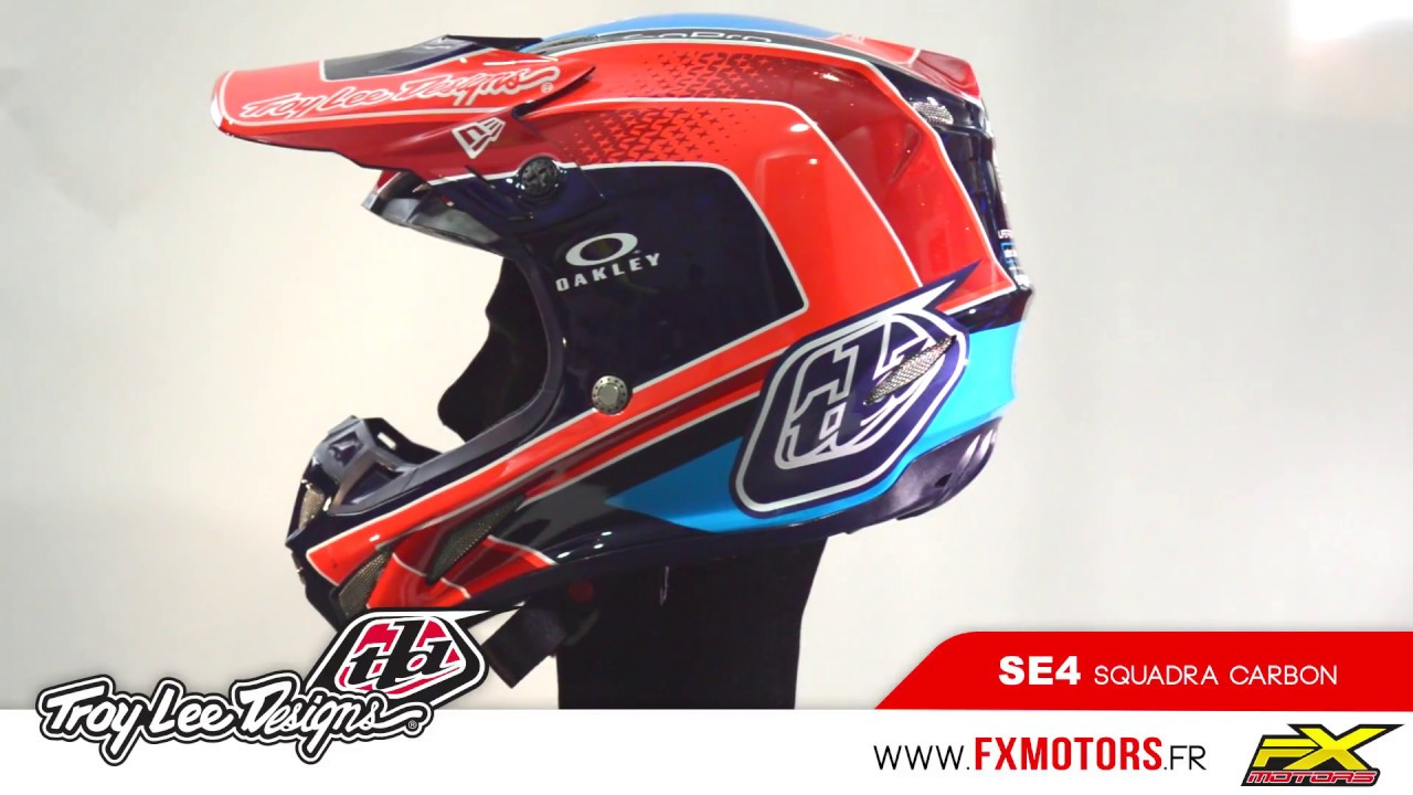 Troy Lee Designs SE4 Carbon Squadra - YouTube a13cbbb15056