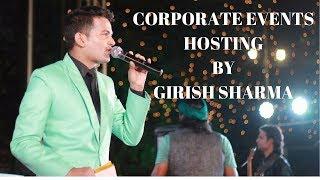Best Anchor/ Best Emcee Girish Sharma hosting Corporate Events | Showreel