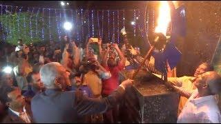 محافظ السويس يوقد شعلة النصر إيذانا ببدء احتفالات العيد القومي