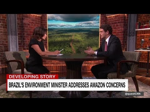 Brazil's environment minister addresses Amazon concerns