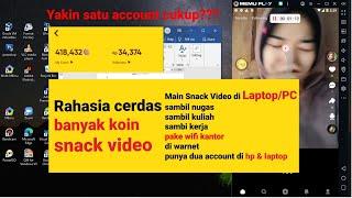 Cara Install SNACK VIDEO di Laptop/PC + CARA CEPAT DAPAT UANG DENGAN SNACK VIDEO [AUTO CLICKER] screenshot 5