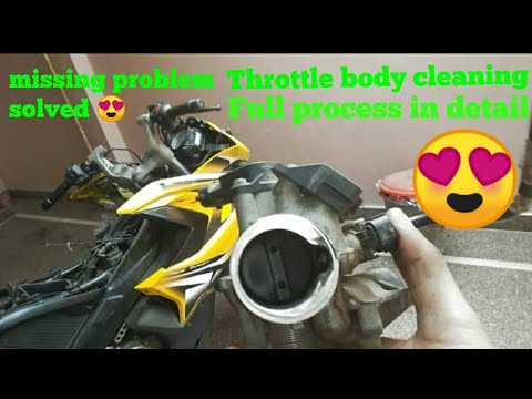 pulsar RS 200 throttle body and fuel injector cleaning in detail   ktm throttle body cleaning same.