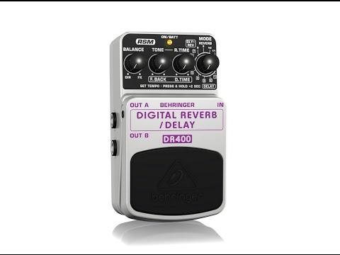 DIGITAL REVERB /DELAY DR400 Digital Stereo Reverb/Delay Effects Pedal