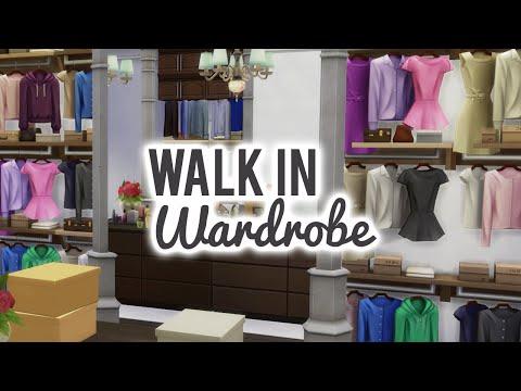 The Sims 4 Room Build — Dreamy Walk in Wardrobe