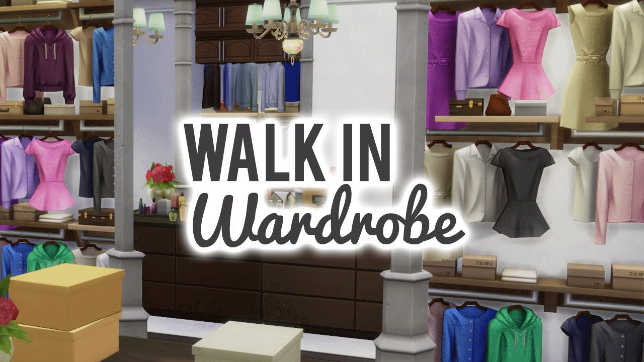 The Sims 4 Room Build U2014 Dreamy Walk In Wardrobe   YouTube