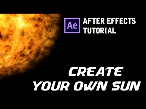 [TUTORIAL] HOW TO CREATE A SUN AND A SPACE SCENE || AFTER EFFECTS