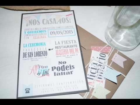 Tarjetas De Invitacion Para Matrimonio Civil Youtube