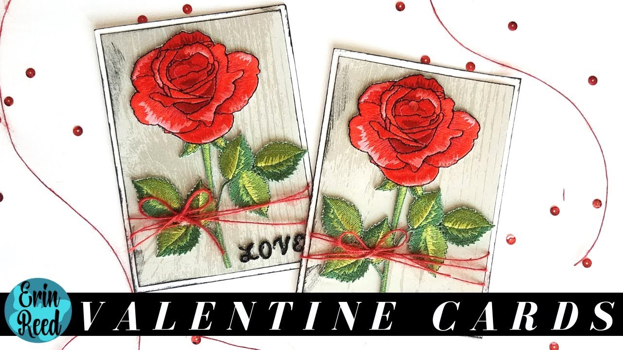 Valentine Rose Cards Cardmaking Wednesday Series Youtube