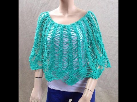 Crochet Easy Cape Poncho Shawl Tutorial - and Raffle