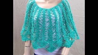 crochet easy cape poncho shawl tutorial and raffle