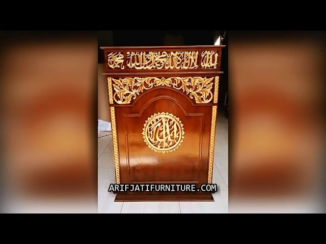 Model Mimbar Podium Masjid Terbaru | ARIF JATI FURNITURE