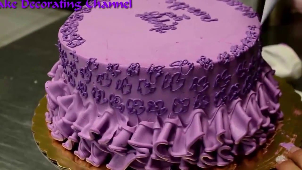 Cake Decorating Tutorial Happy Birthday Baby Girl