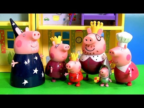 Princess Peppa Pig Royal Family as Knight, Wizard, King, Queen Baby Toys by ToysCollector