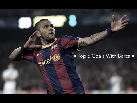 Daniel Alves ● Top 5 Goals With Barca ●