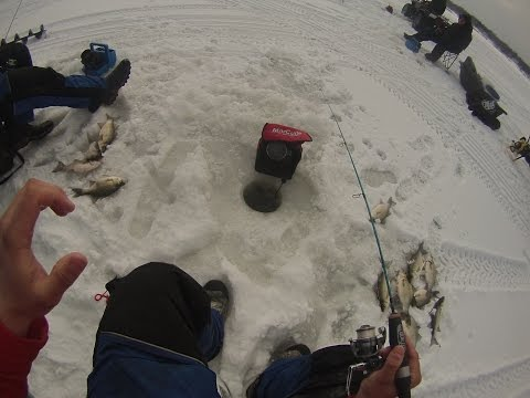 Ice Fishing Lake Butte Des Morts 3/5/2016