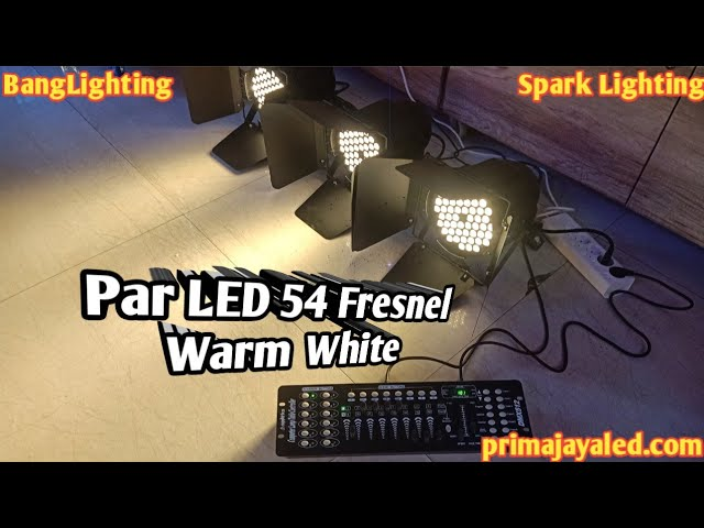 Par LED 54 Fresnel Warm White