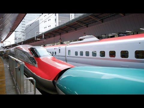 秋田新幹線 こまち65号 (E6系運行) 超広角車窓 大曲まで進行左側 東京・上野~盛岡~秋田