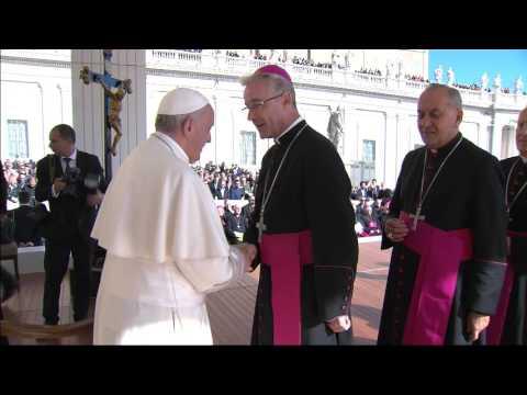 Ojciec Święty z polskimi biskupami