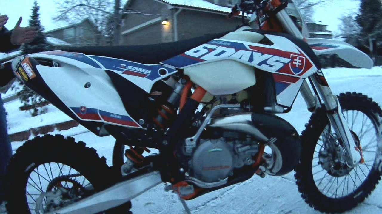 2016 ktm 300 xc-w 6 days delivery in the dead of winter - sold