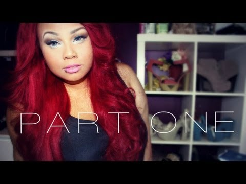 My 28 red hair with closure tutorial part one youtube pmusecretfo Choice Image