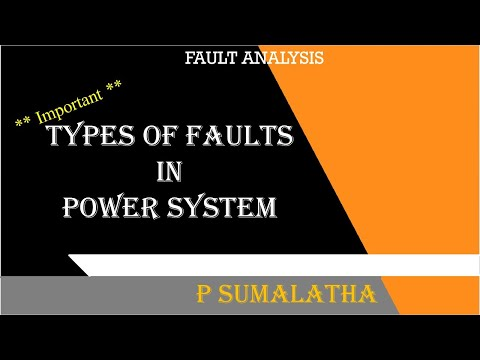 TYPES  OF FAULTS IN POWER SYSTEM