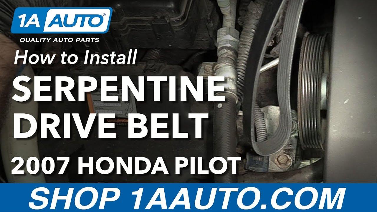 how to replace serpentine belt 03 08 honda pilot youtubehow to replace serpentine belt 03 08 [ 1280 x 720 Pixel ]