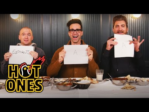 Download Youtube: Rhett & Link Eat the World's Spiciest Curry with Sean Evans | Hot Ones