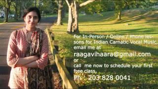 Carnatic Music Lessons-Jalajaksha Varnam.