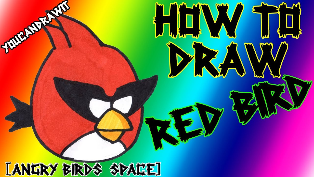how to draw space red bird from angry birds space youcandrawit