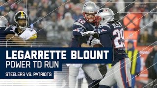 Blount Powers the Patriots Into the End Zone! | Steelers vs. Patriots | AFC Championship Highlights