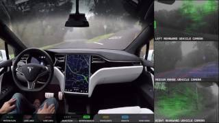 Autopilot Full Self Driving Demonstration Nov 18 2016 Realtime Speed(Tesla has released another Autopilot autonomous driving demonstration video, this time in a Model X. Compared to the original video, this one encompasses a ..., 2016-11-19T14:41:51.000Z)