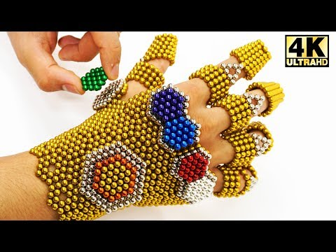Amazing THANOS Infinity Gauntlet Made Out Of 1854 Magnetic Balls DIY ASMR  Magnetic Man 4K