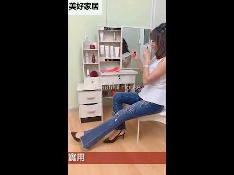 美好家居【型號966梳妝台】台灣現貨*買即贈梳妝椅~鏡子滑推,化妝台/書桌/收納/多功能/鏡檯/化妝櫃