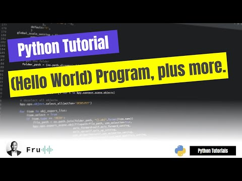 M#1: FULL Python Tutorial For Absolute Beginners - Your First (Hello World) Program, plus more. thumbnail