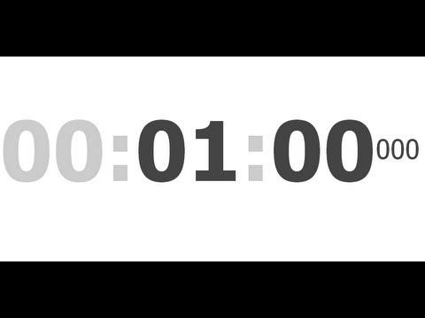 set stopwatch for 1 minute